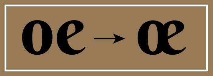 Illustration ligature