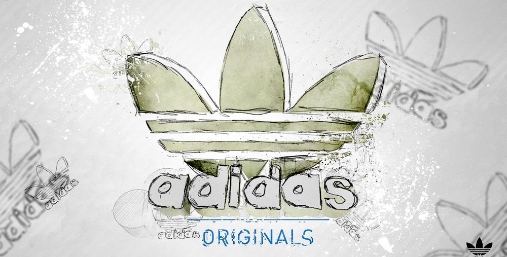 Dessin du logo adidas papier crayon