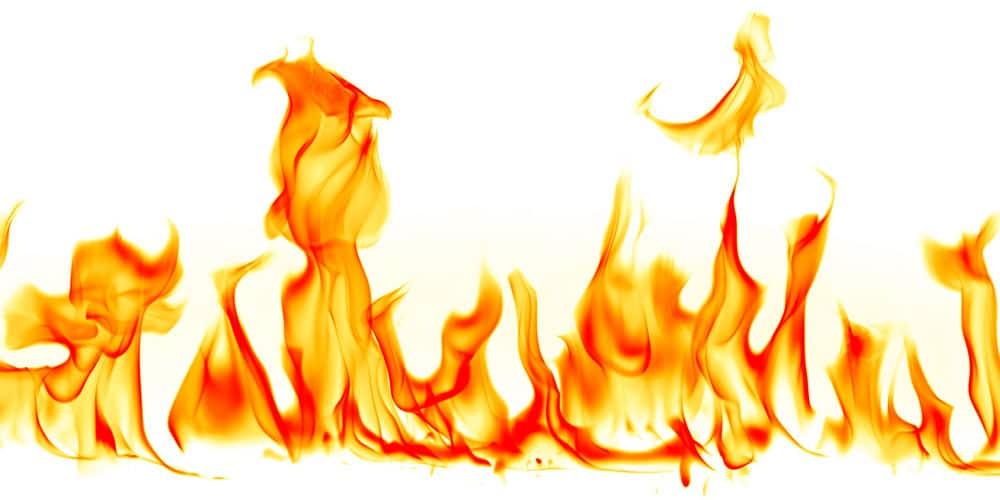 flammes et chaleur