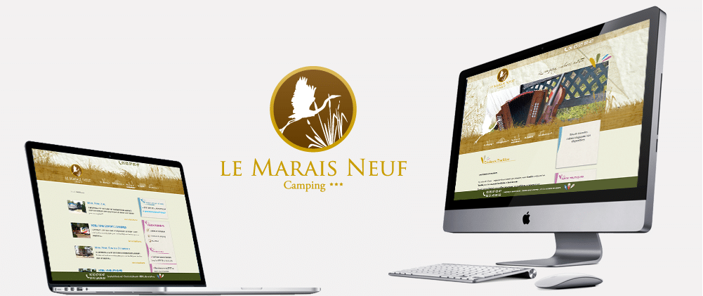 Site web Camping le Marais Neuf 3 étoiles