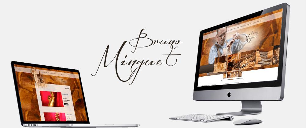 Portfolio site web sculpteur Bruno Minguet