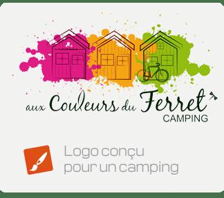 Logo conçu pour un camping