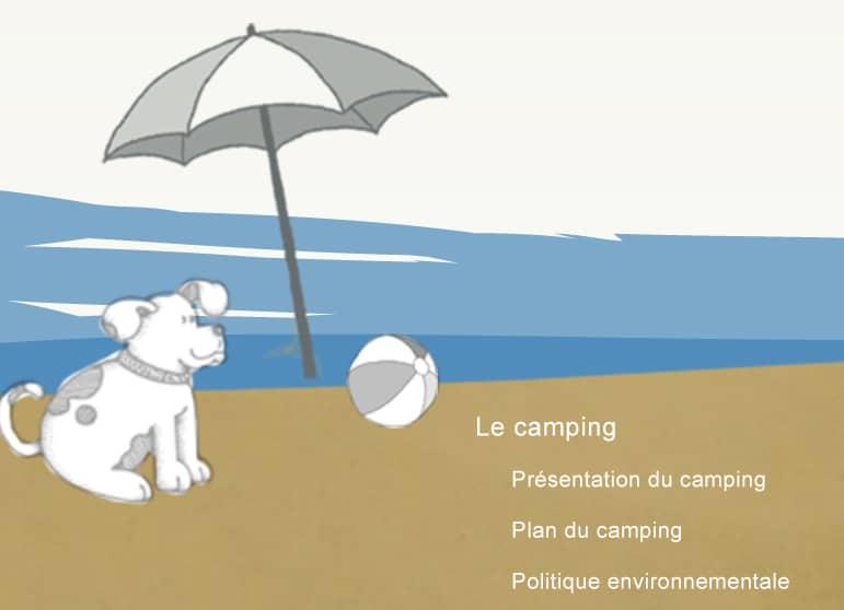 Site de camping détail graphique chien