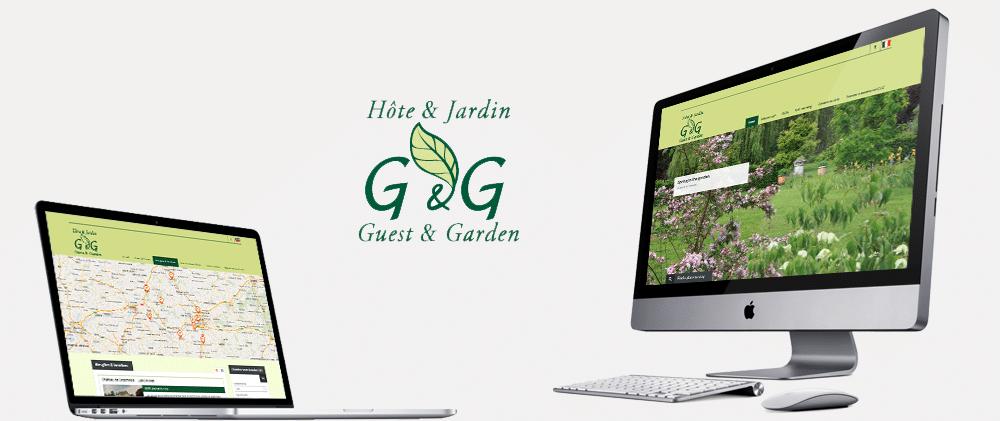 Portfolio site web template Guest and garden
