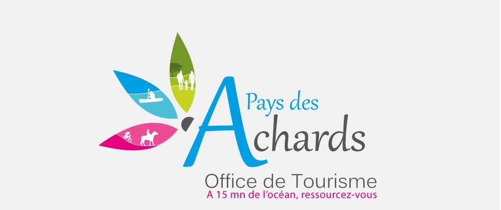 Logo Pays des Achards sur la brochure touristique