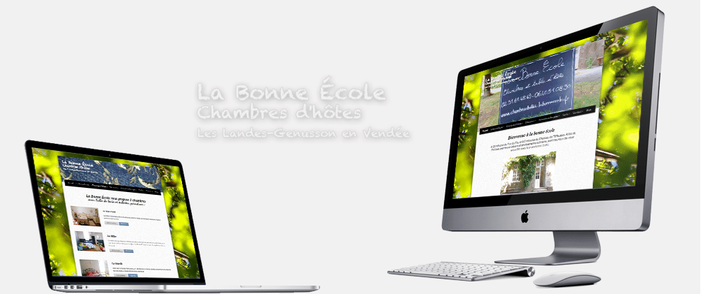Site web template Chambre d'hôte la bonne école