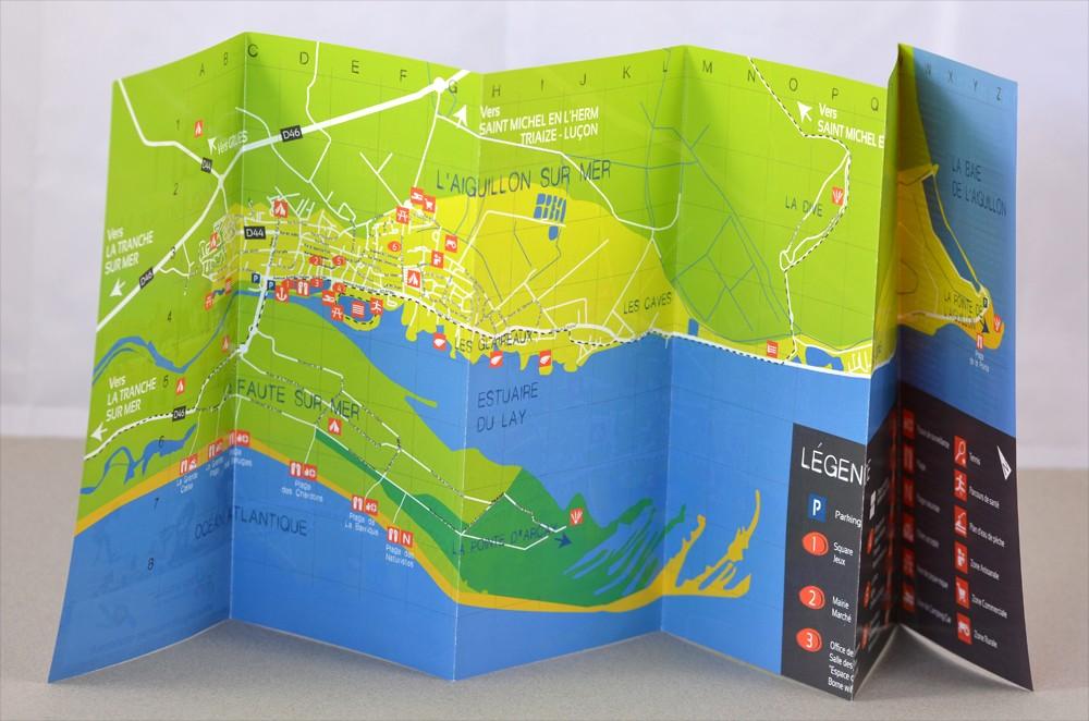 Plan et brochure de l 39 office de tourisme de l aiguillon mer - Office de tourisme de l aiguillon sur mer ...