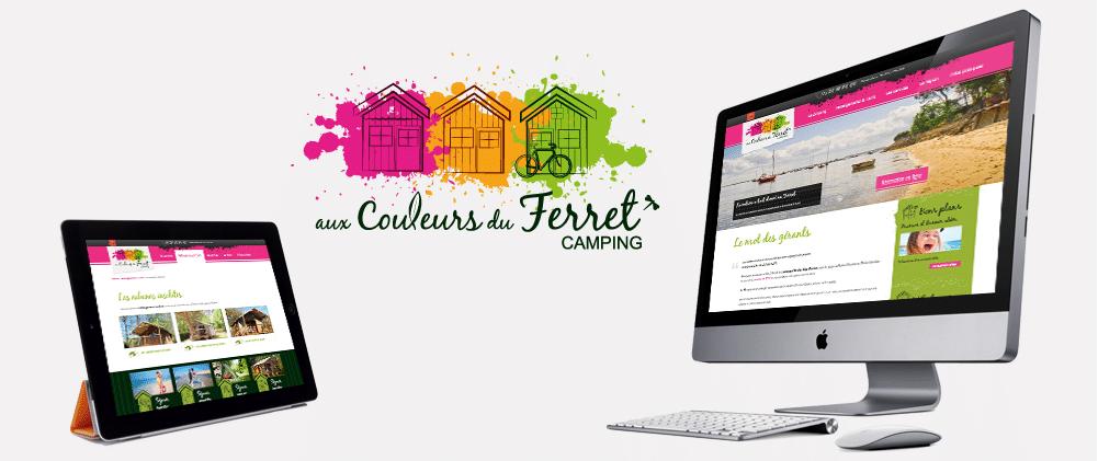 Site web Camping aux Couleurs du Cap Ferret