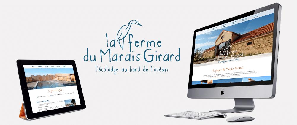 Site web responsive la Ferme du Marais Girard