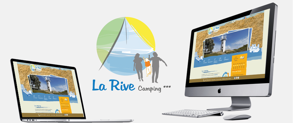 Portfolio site web Camping de la Rive