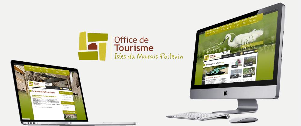 Site web Office de Tourisme du Marais poitevin