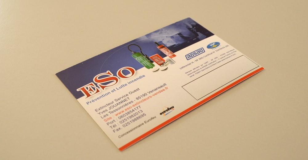 Conception carte postale et plaquette commerciale ESO