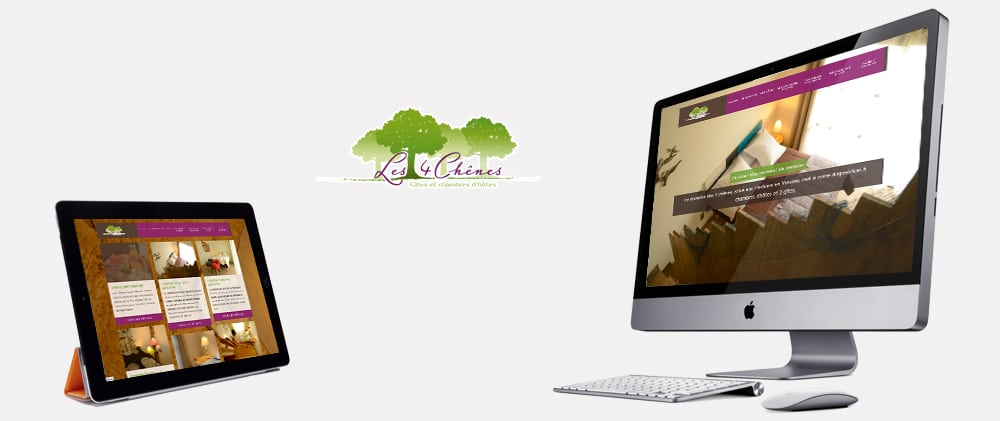 Site web template les 4 chênes