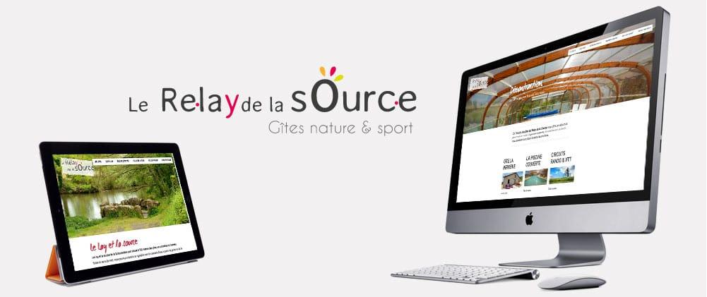Site web Gites Le Relay de la source en Vendée