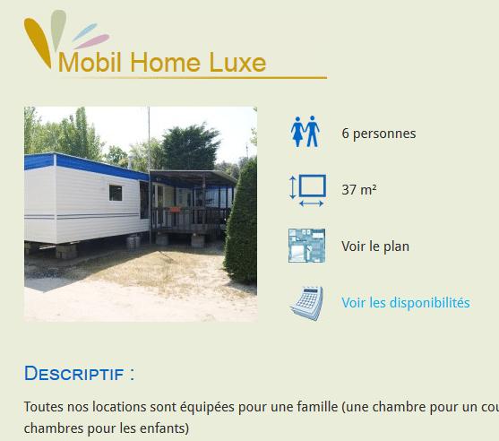 Exemple sur le camping du Marais Neuf