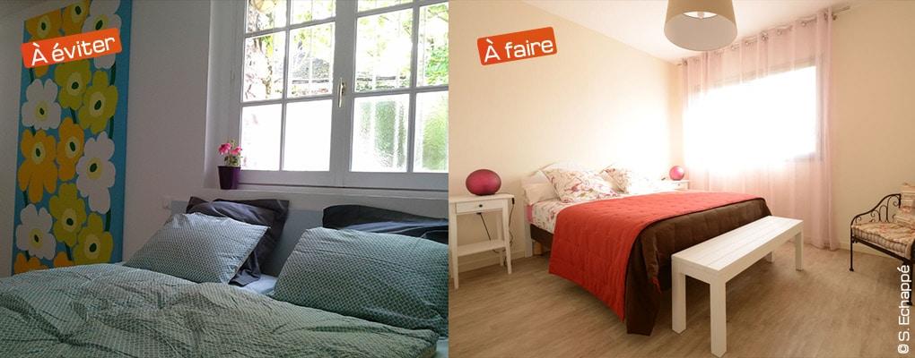 photo de gîte : avec ou sans plis sur le lit