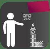 Pictogramme pour la formation sur les clientèles britanniques