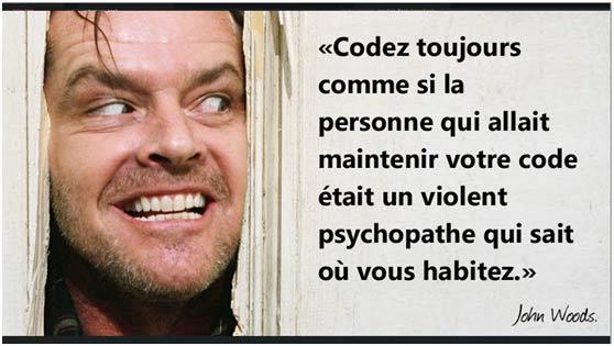 Joh, woods codeur psychopathe