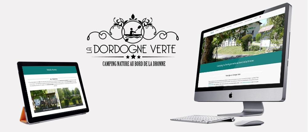 Site WordPress template du camping La Dordogne Verte
