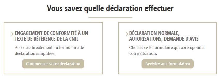 Quelle déclaration CNIL choisir ?