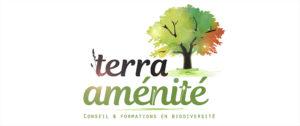 Conception de logo RVB de Terra Aménité
