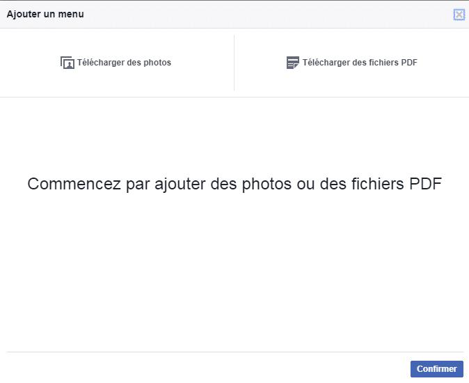 Ajouter un menu sur Facebook
