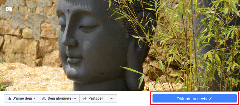 Bouton d'appel à l'action facebook