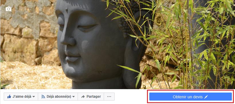 Bouton d'appel à l'action facebook