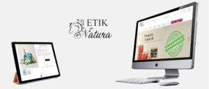 Visuels du site e-commerce Etik Natura
