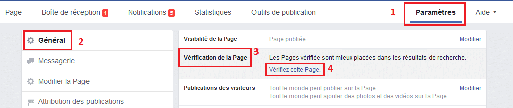 Rendre sa page Facebook officielle