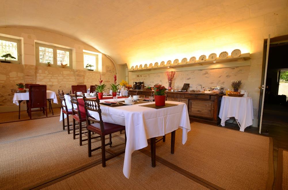 Salle du petit déjeuner dans l'hotellerie de luxe