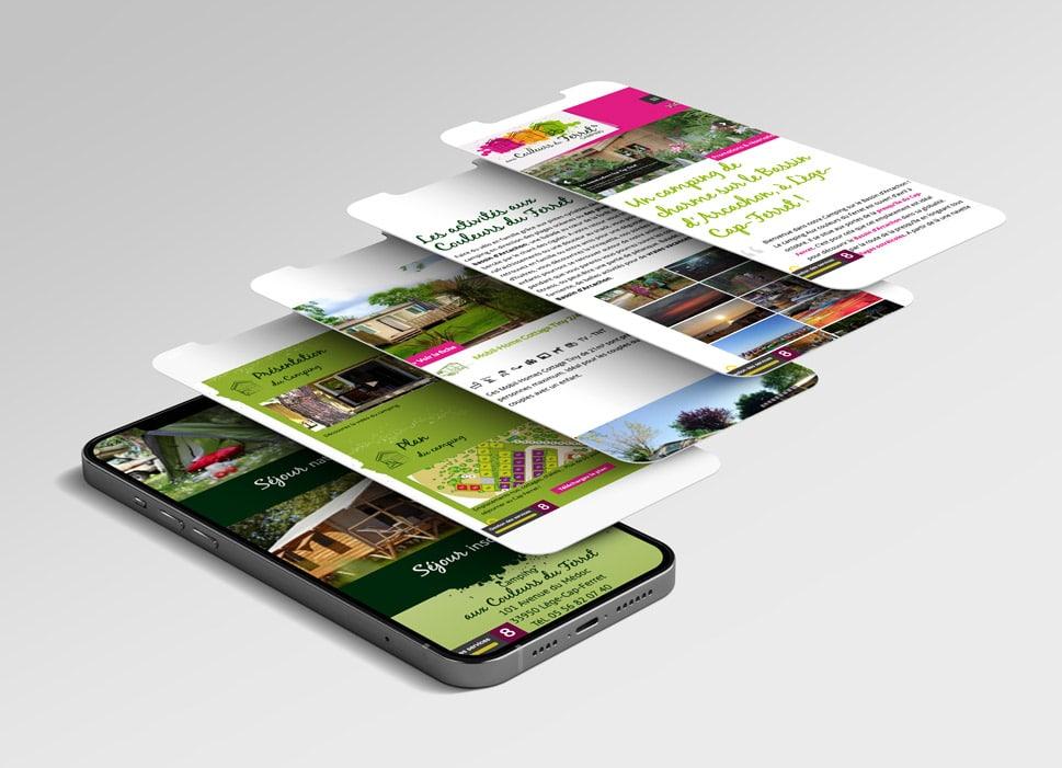 Responsive design site camping Cap Ferret