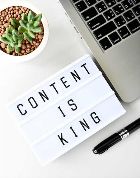SUr un site web, le contenu est roi