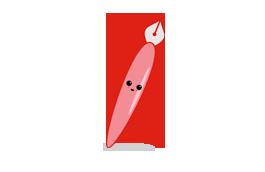 Kawaii crayon