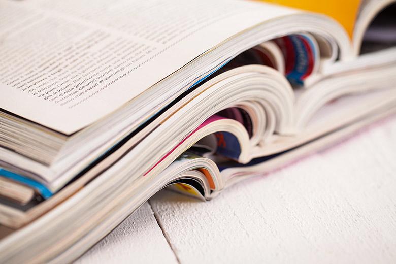 Brochures et catalogues design réalisés en formation