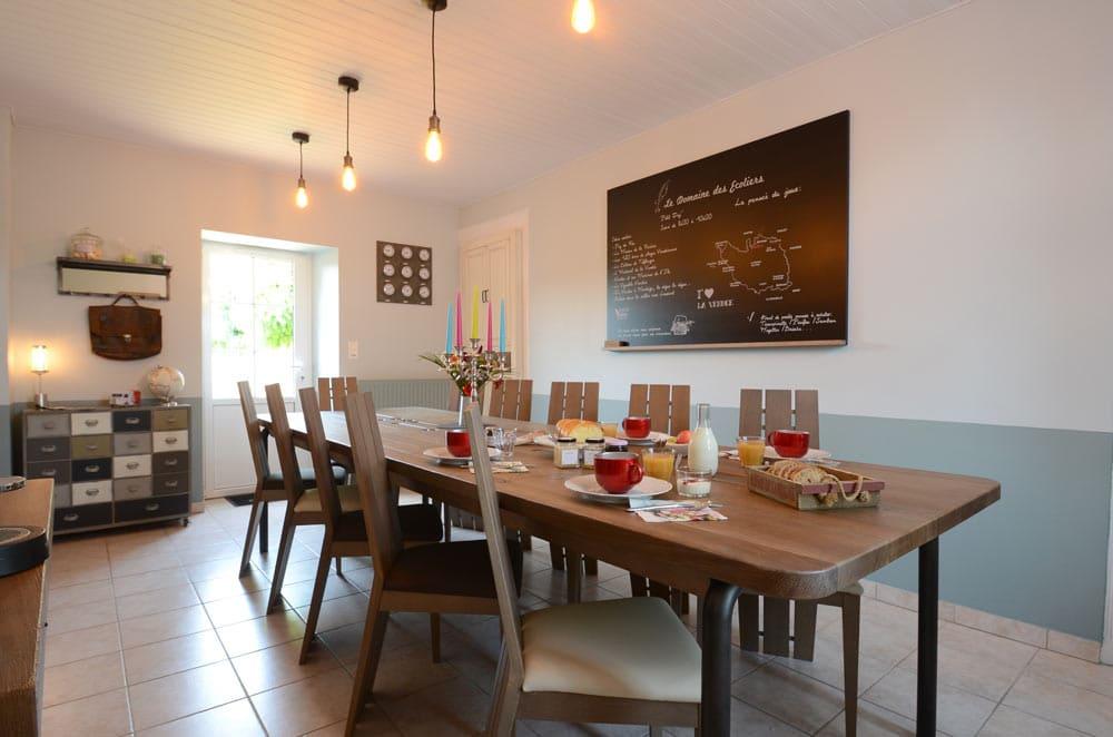 Salle petit déjeuner - copyright Sabrina Echappe